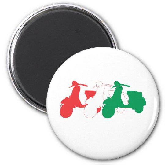 Italian Scooter 6 Cm Round Magnet