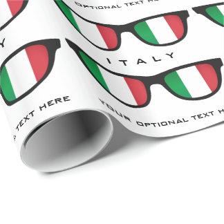 Italian Shades custom text & color gift wrap