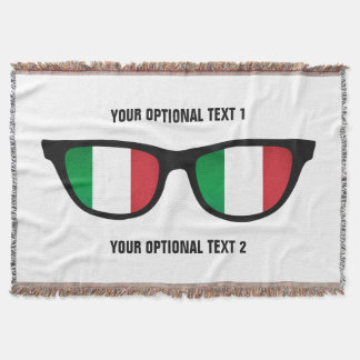 Italian Shades custom throw blanket