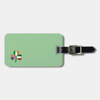 Italian Shamrock Green Background Luggage Tag