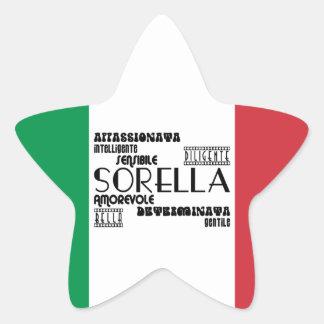 Italian Sisters : Qualities Star Sticker