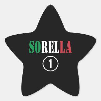 Italian Sisters : Sorella Numero Uno Star Sticker