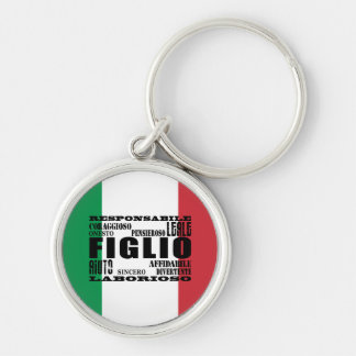 Italian Sons : Qualities Silver-Colored Round Key Ring