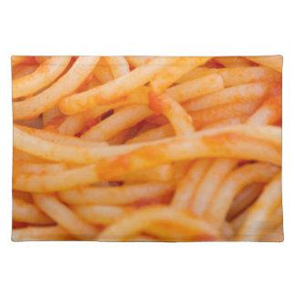 italian spaghetti placemat