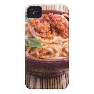 Italian spaghetti with tomato relish and basil iPhone 4 Case-Mate cases
