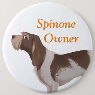 Italian spinone badge roan