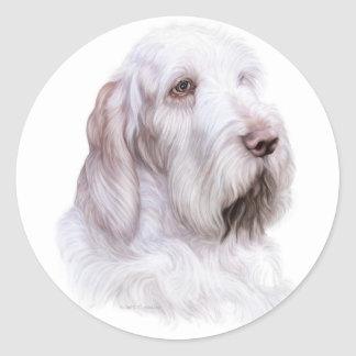 Italian Spinone Italiano Round Sticker