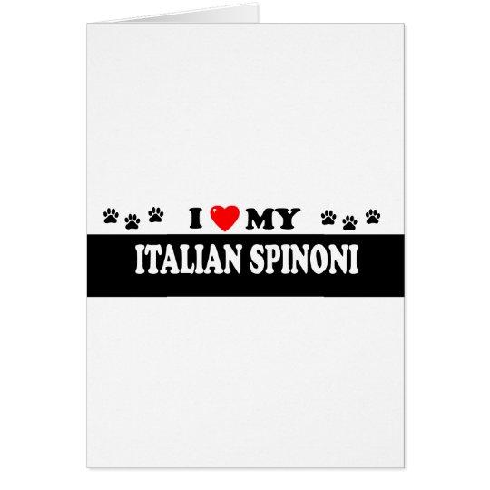 ITALIAN SPINONI CARD
