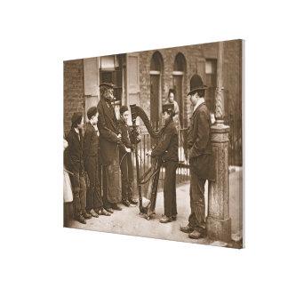 Italian Street Musicians, from 'Street Life in Lon Canvas Print