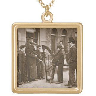 Italian Street Musicians, from 'Street Life in Lon Personalized Necklace