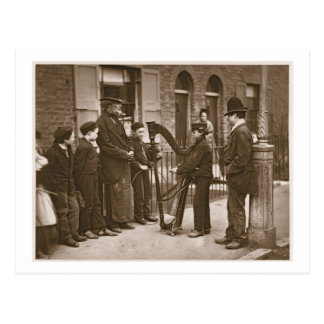Italian Street Musicians, from 'Street Life in Lon Postcard