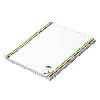 Italian stripes flag notepad
