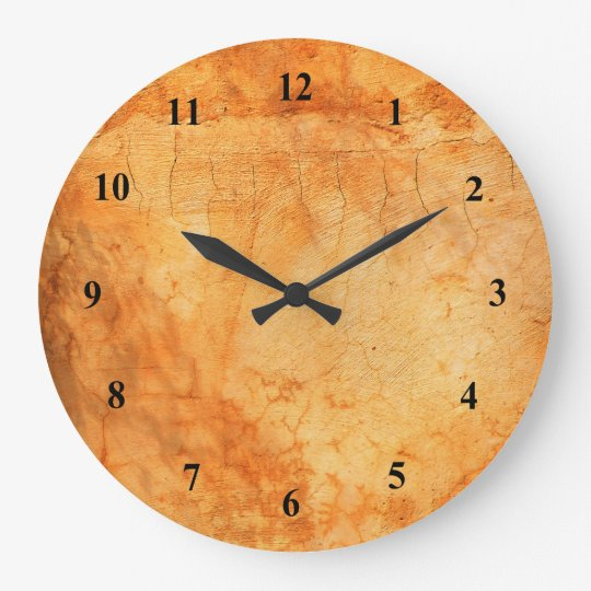 Italian style terracotta brick wall clock