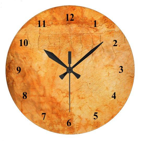 Italian style terracotta brick wall large clock