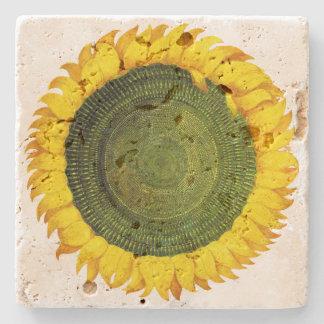 Italian Sunflower Stone Coaster