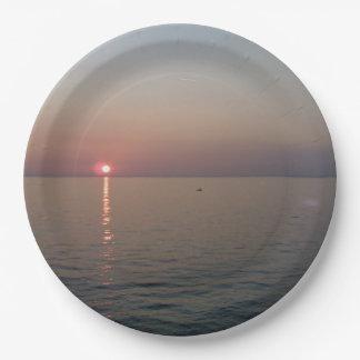 italian sunrise paper plate