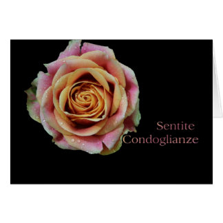 Italian Sympathy card - Sentite Condoglianze- Doub