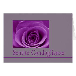 Italian Sympathy roses - sentite condoglianze Greeting Cards