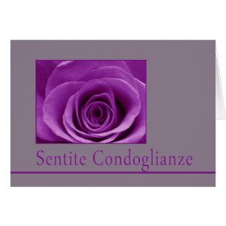 Italian Sympathy roses - sentite condoglianze Greeting Card