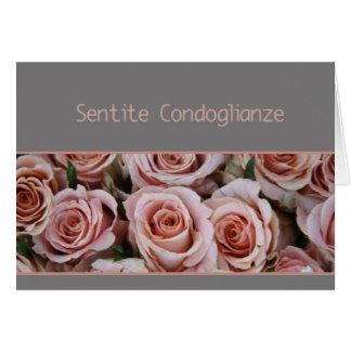 italian Sympathy Sentite Condoglianze Card