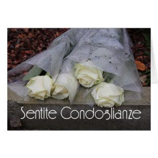 italian Sympathy Sentite Condoglianze Cards