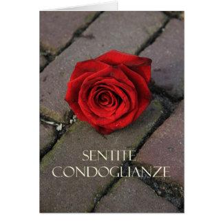 italian Sympathy Sentite Condoglianze Greeting Cards