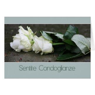 italian Sympathy Sentite Condoglianze Greeting Card