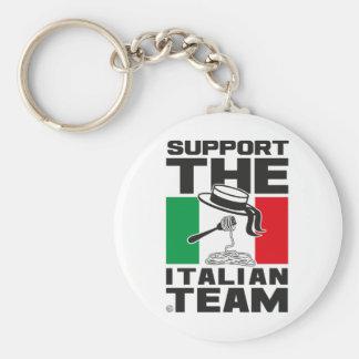 ITALIAN TEAM BASIC ROUND BUTTON KEY RING
