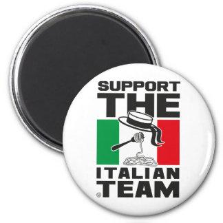 ITALIAN TEAM 6 CM ROUND MAGNET