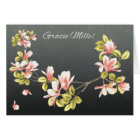 Italian Thank you card with pretty pink Magnolia
