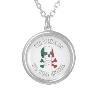Italian To The Bone Round Pendant Necklace