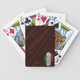 Italian touch fingerprint flag bicycle playing cards