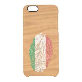 Italian touch fingerprint flag clear iPhone 6/6S case