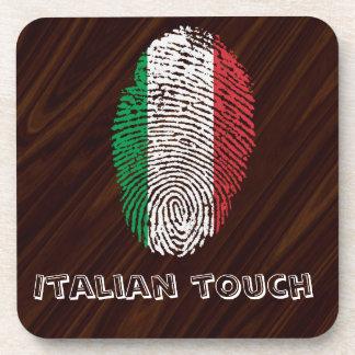 Italian touch fingerprint flag coaster