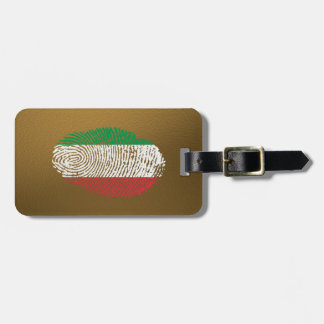 Italian touch fingerprint flag luggage tag