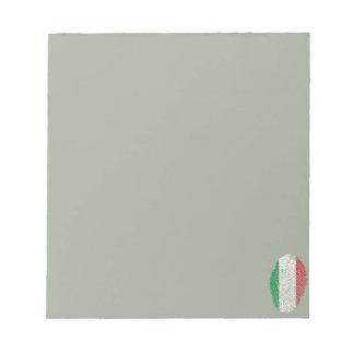 Italian touch fingerprint flag notepad
