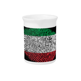 Italian touch fingerprint flag pitcher