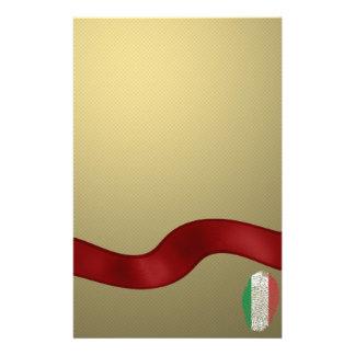 Italian touch fingerprint flag stationery