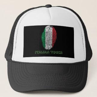Italian touch fingerprint flag trucker hat