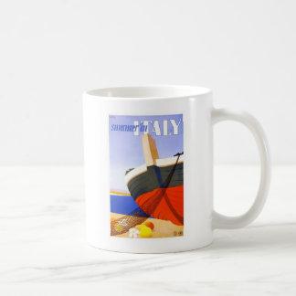 Italian tour poster basic white mug