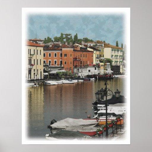 Italian town poster
