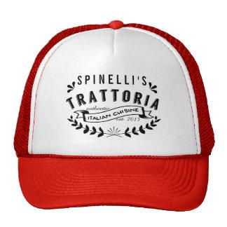 Italian Trattoria Personalized Vintage Restaurant Cap