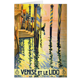 Italian Travel Poster 1920 Card