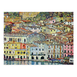 Italian Village Malcena at the Gardasee by Klimt Postcard