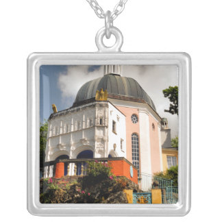 ITALIAN VILLAGE WALES SQUARE PENDANT NECKLACE
