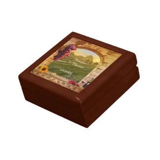 Italian Vineyard Wine Theme Photo Wedding Gift Box