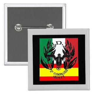 Italian volunteer group spanish civil war 15 cm square badge