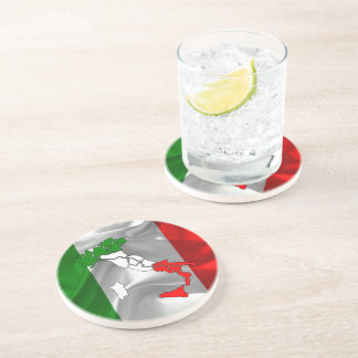 Italian waving flag coaster
