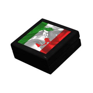 Italian waving flag gift box