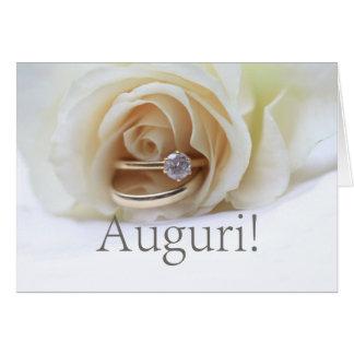 italian  wedding congratulations card